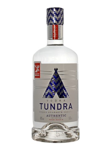 Водка TUNDRA AUTHENTIC Крайнего Севера, 0,5л